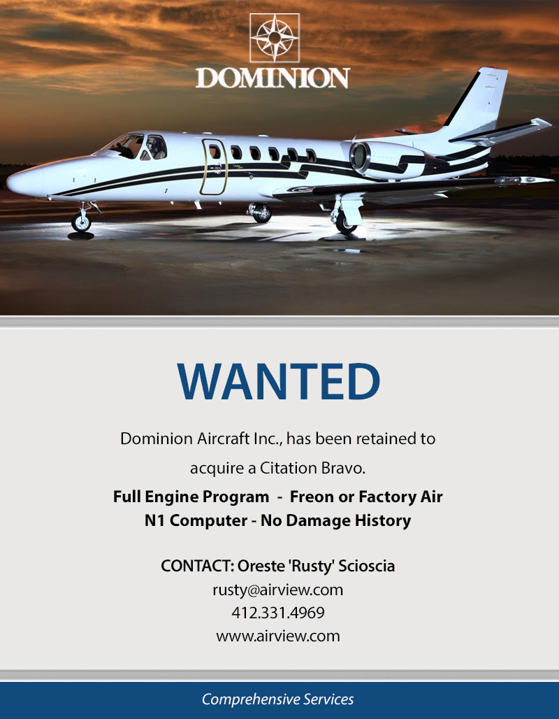 Cessna Citation Bravo Wanted